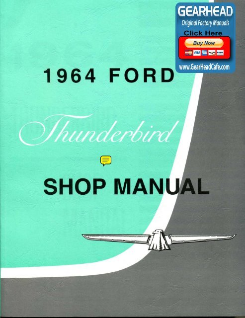 download 1964 Ford Thunderbird Oil Filler Breather Cap Push On Type Open System workshop manual