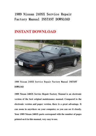 download 240SX workshop manual