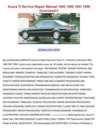 download Acura 1.6EL workshop manual