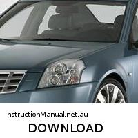 download CADILLAC BLS workshop manual
