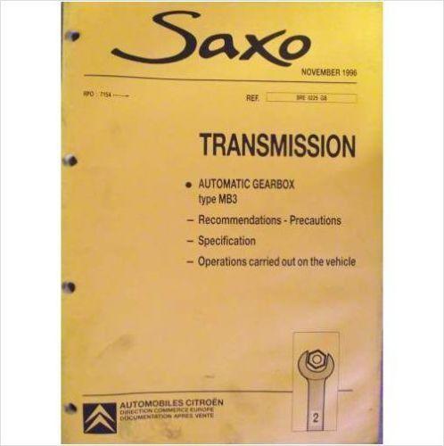 download CITROEN SAXO workshop manual