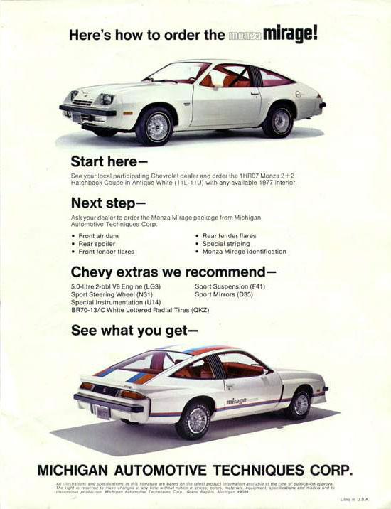 download Chevrolet Monza workshop manual