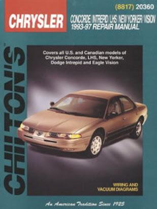 download Chrysler LH NewYorker Concorde Intrepid Vision LHS workshop manual
