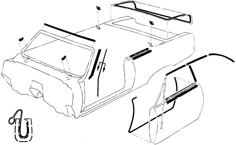 download Convertible Top Body Weatherstrip Kit With Window Felt Cars With Standard Or Deluxe Interior workshop manual