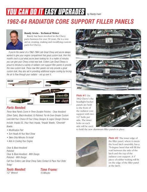 download Core Support Filler Panel 2 Piece Polished Aluminum workshop manual