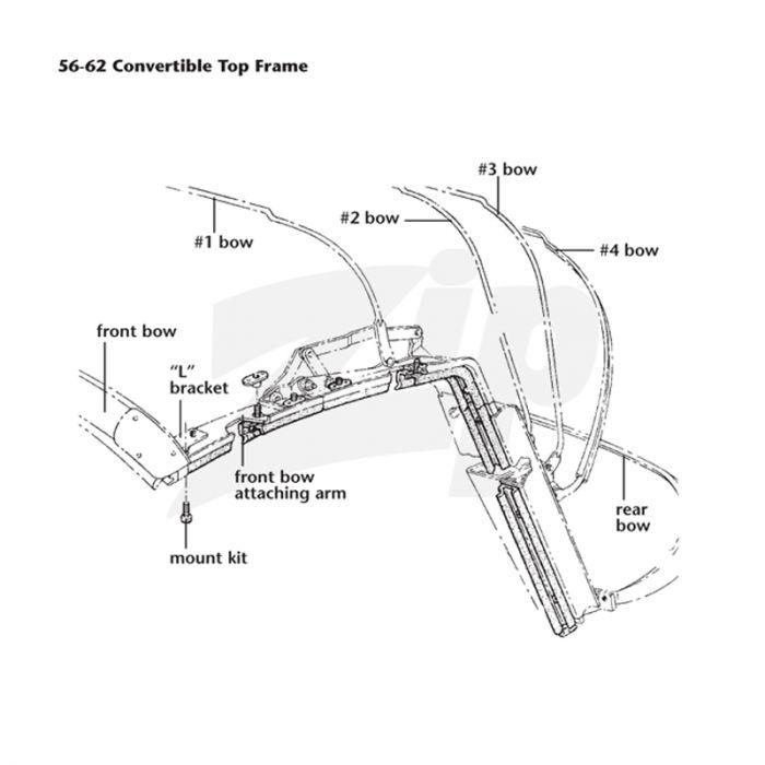 download Corvette Convertible Header Bow Top Front workshop manual