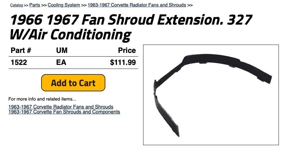 download Corvette Upper Fan Shroud workshop manual