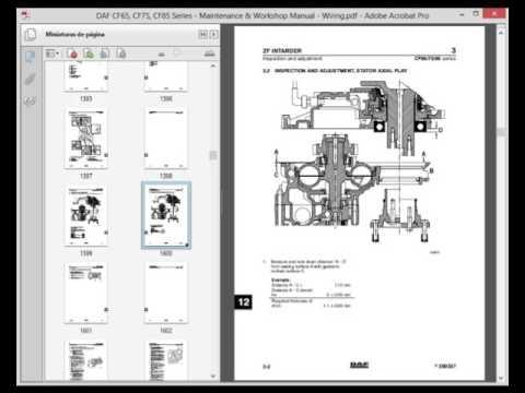 download DAF Truck CF CF65 CF75 CF85 workshop manual