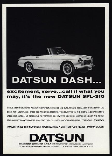 download DATSUN SPORTS CAR SP L 310 workshop manual
