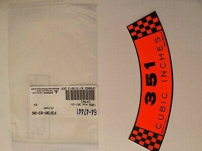 download Decal Air Cleaner 351 Cubic Inches 4V Premium Fuel workshop manual