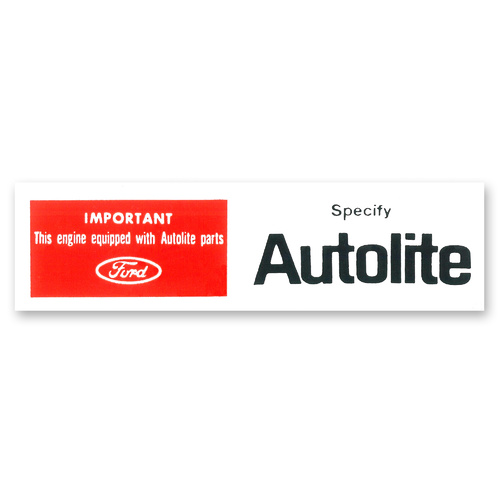 download Decal Air Cleaner Autolite Parts workshop manual