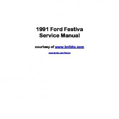 download FORD FESTIVA workshop manual