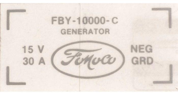 download Ford Thunderbird Generator Decal Generator C Decal workshop manual