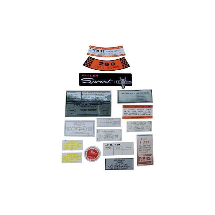 download Ford Torino Ranchero Emission Decal 460 AT workshop manual