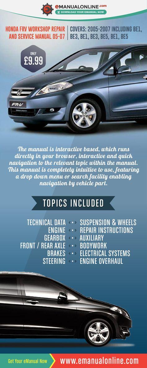 download Honda FRV 05 07 workshop manual