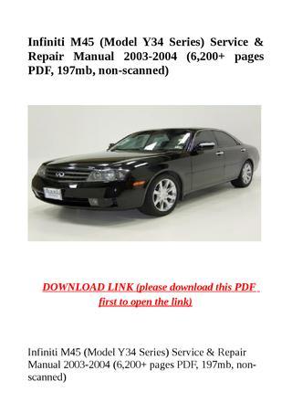 download INFINITY M45 Y34 Manuals workshop manual