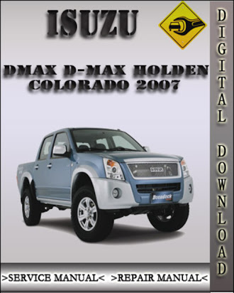 download ISUZU D MAX KB P190 HOLDEN COLORADO workshop manual