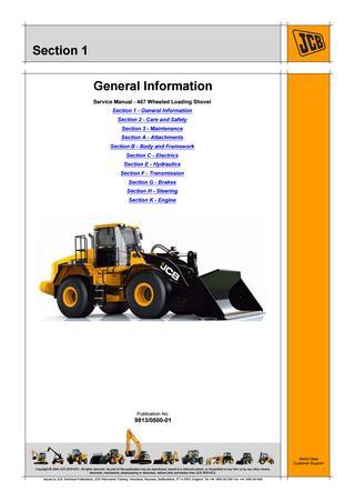 download JCB 467 Wheeled Loader able workshop manual