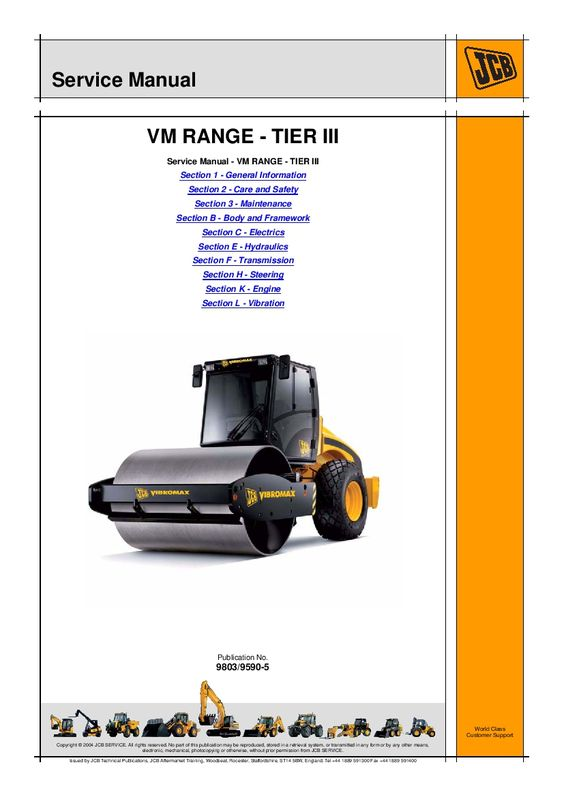 download JCB VM115 TIER ? VIBROMAX able workshop manual