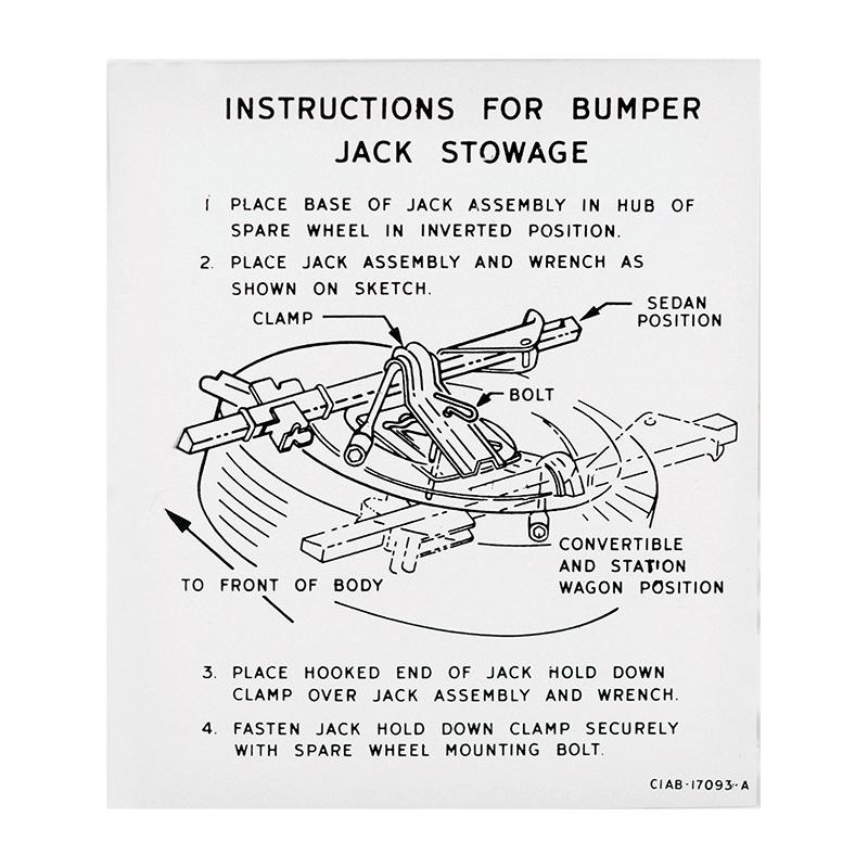 download Jack Instruction Decal Fairlane workshop manual