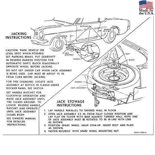 download Jack Instructions Decal With Styled Wheels Montego Except Convertible workshop manual