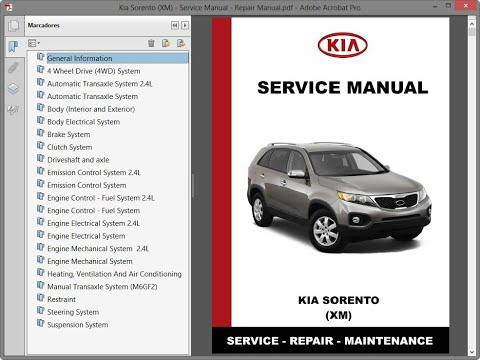 download Kia Sorento XM workshop manual