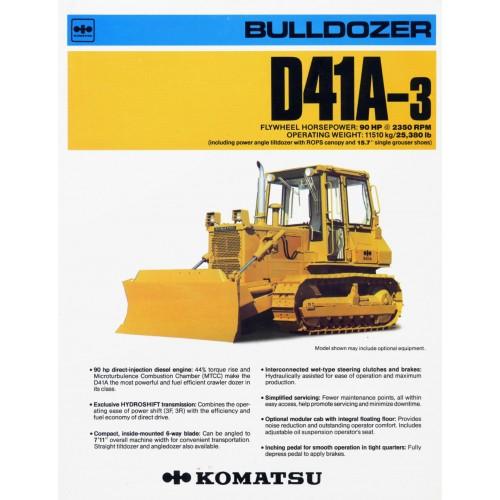 download Komatsu D41A 3 Bulldozer able workshop manual