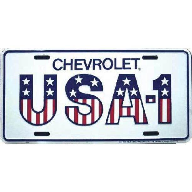 download License Plate Chevrolet USA 1 workshop manual