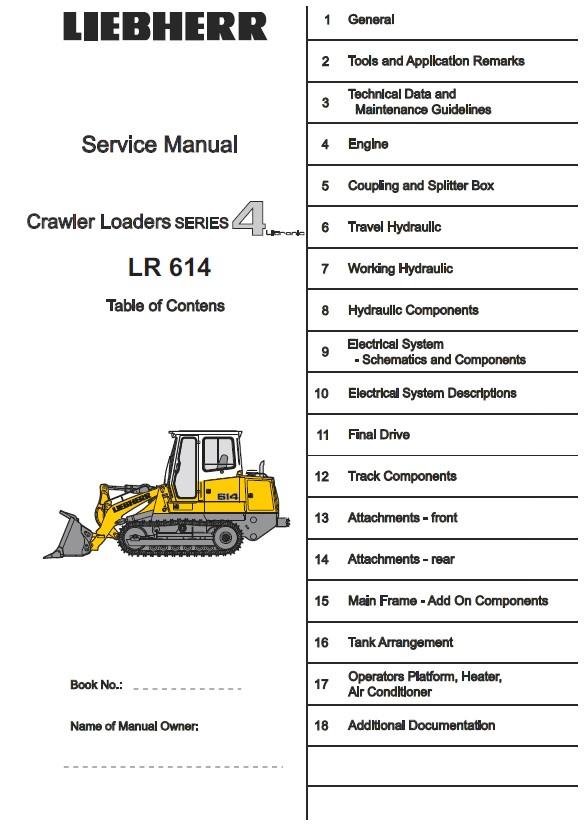 download Liebherr LR 624 634 Crawler Loader 4 Litronic able workshop manual