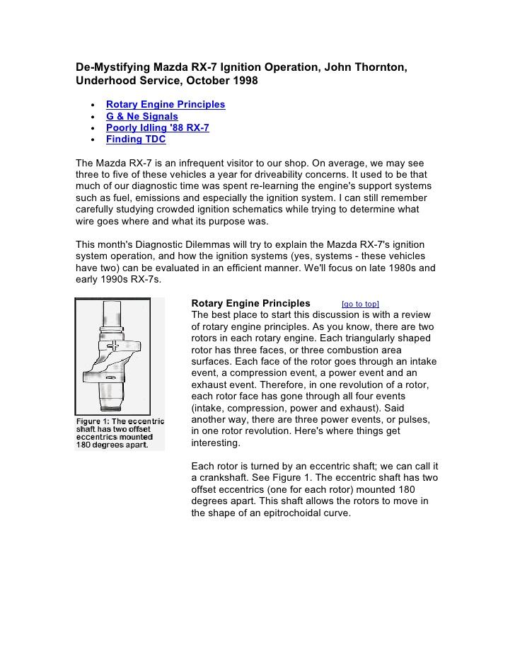 download MAZDA ROTARY PICKUP workshop manual