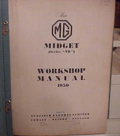 download MG Midget TD workshop manual