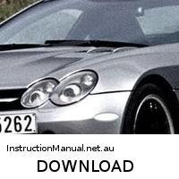 download Mercedes Benz SLR McLaren Roadster s workshop manual