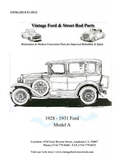 download Model A Ford Door Sill Plates Briggs Fordor Sedan Plain Front workshop manual
