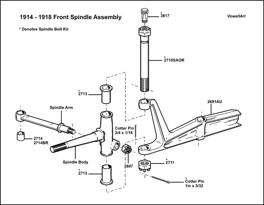 download Model T Ford Spindle Bolt 12 Piece Thread In Brass Oilers Top workshop manual