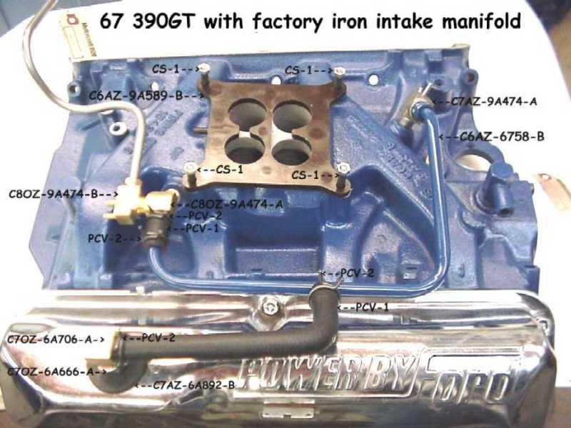 download Mustang 390 GT Rear PCV Intake Fitting Brass workshop manual