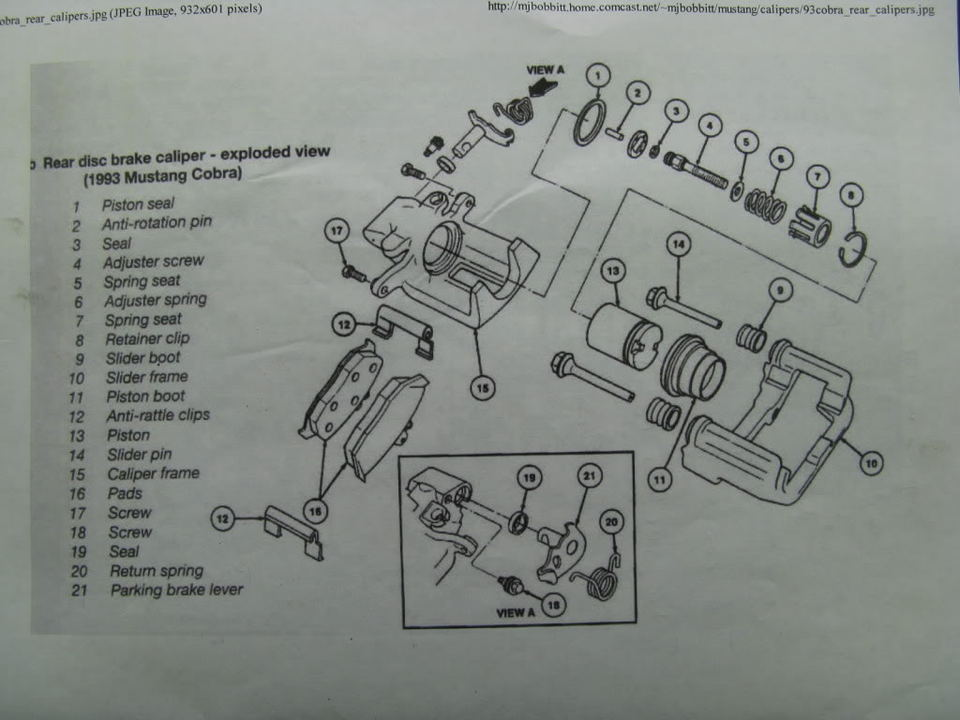 download Mustang Parking Brake Lever Seal Retainer workshop manual