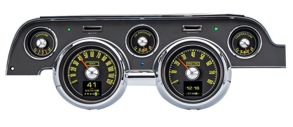 download Mustang Vintage USA 67 Gauge Kit 3 in 1 Style Gauges with Black Faces workshop manual