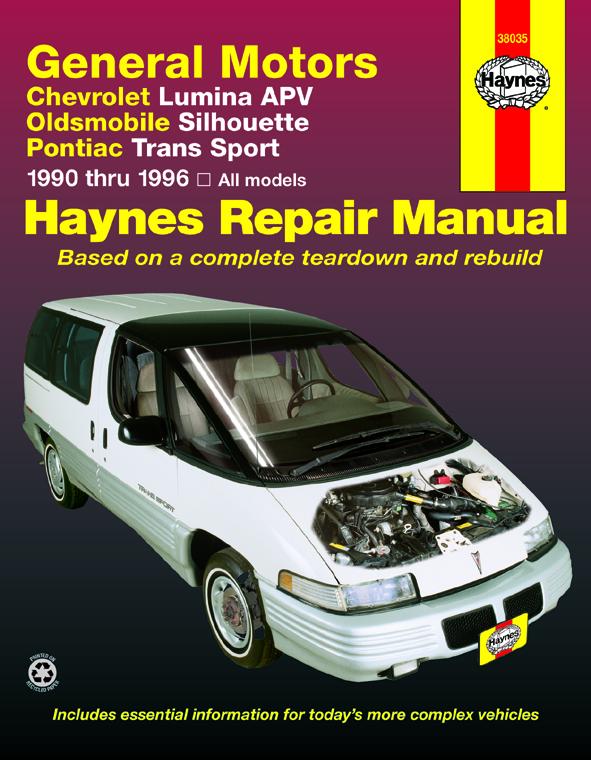 download Oldsmobile Silhouette workshop manual