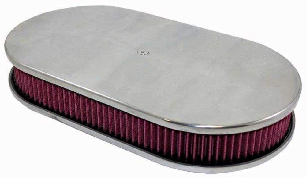 download Polished Aluminum 12 Oval Smooth Engine Air Cleaner workshop manual