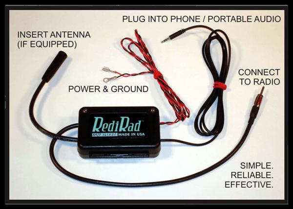 download Redi Rad Radio Mobile Device Adapter 12 Volt Negative Ground FM Radios Stereos workshop manual