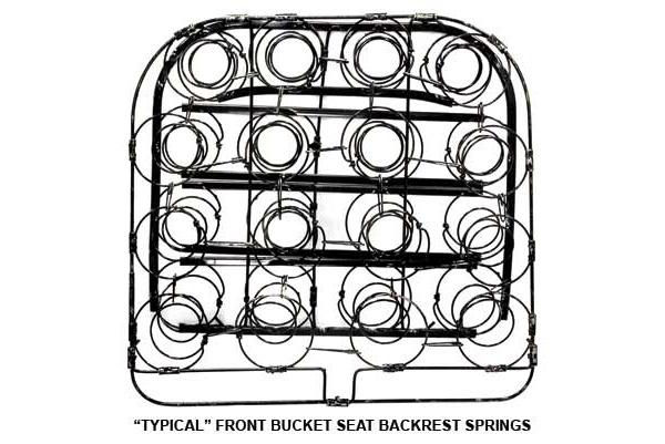 download Seat Spring Ford Mercury Convertible Sedan Coupe Front Backrest Passenger Side workshop manual