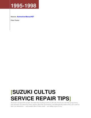 download Suzuki Cultus workshop manual
