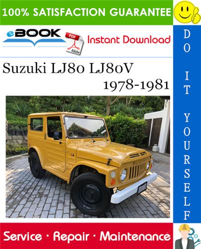 download Suzuki Jimny LJ80 Manuals workshop manual