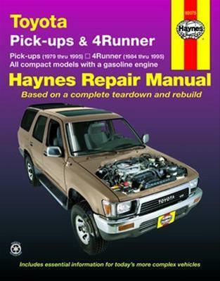 download Toyota Pickup 4 Runner Gasoline workshop manual