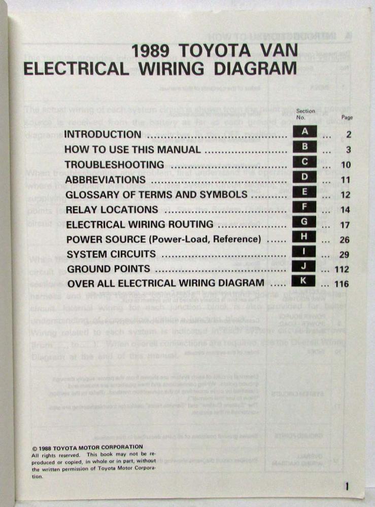 download Toyota Van YR 22 29 31 32 workshop manual