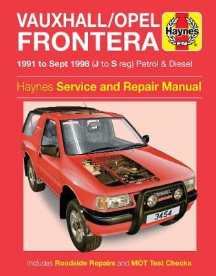 download VAUXHALL FRONTERA workshop manual