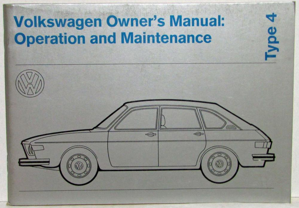 download VOLKSWAGEN 412 workshop manual